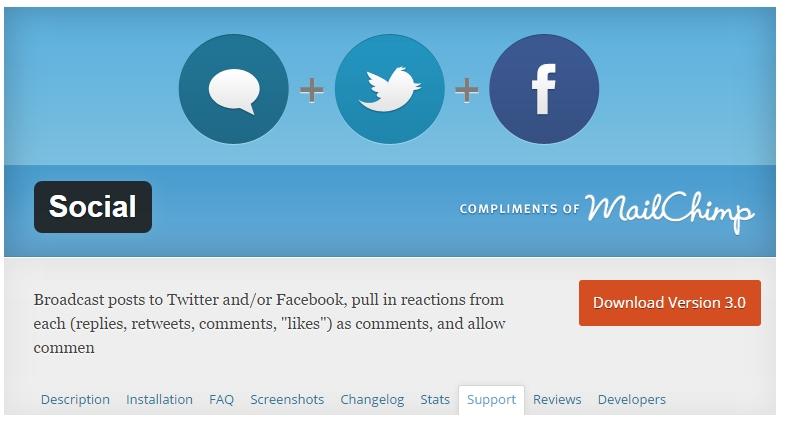 Social plugin by Crowdfavorite