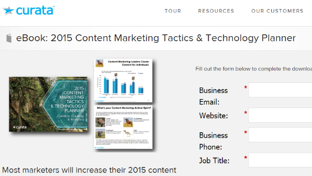2015 Content Marketing Tactics and Technology Study screenshot