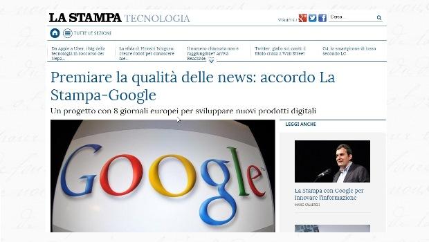 La Stampa e Google