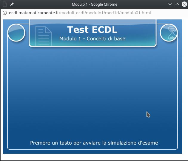 Esercizi ECDL: i test di Matematicamente.iy