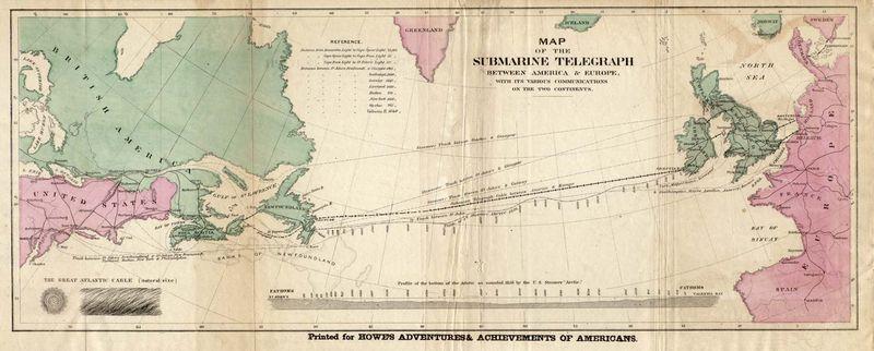 Una delle prime illustrazioni dell'Atlantic Cable