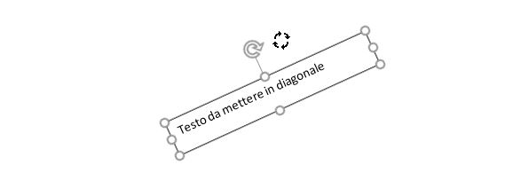 Testo in diagonale in word