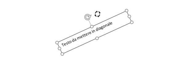 Testo in diagonale in word